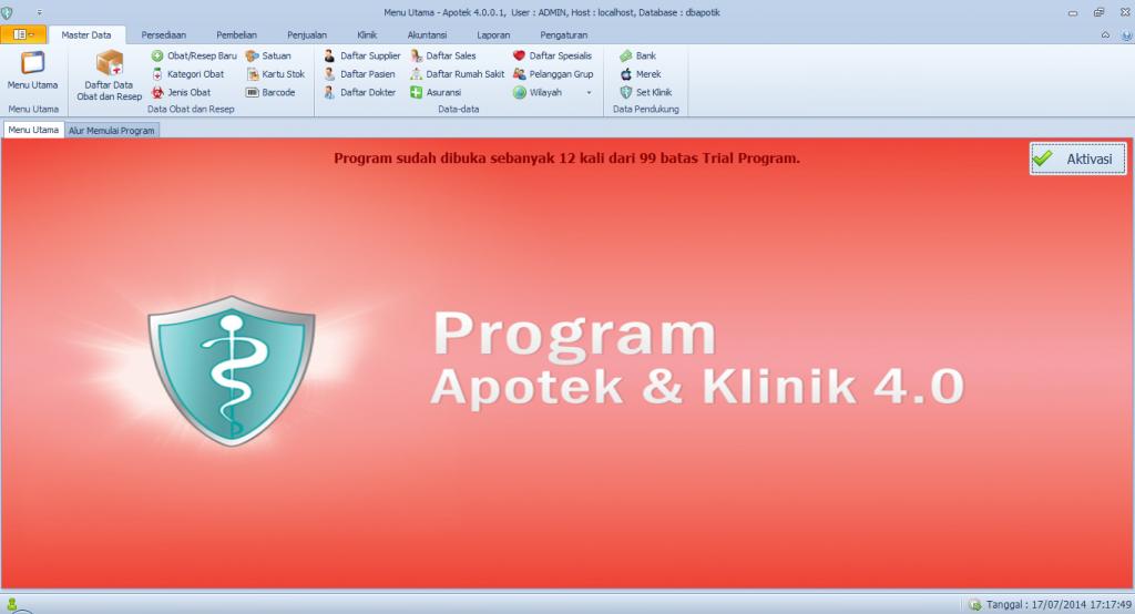 menu utama software apotek